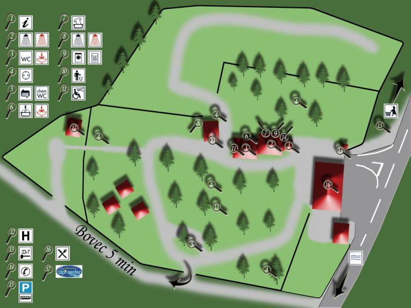 načrt kampa Polovnik